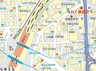 豊島区東池袋の賃貸オフィス・貸事務所 NBF池袋タワー