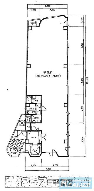 荒川区東日暮里の賃貸オフィス・貸事務所 東栄産業日暮里駅前第3ビル
