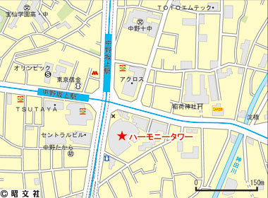 中野区本町の賃貸オフィス・貸事務所 ハーモニータワー
