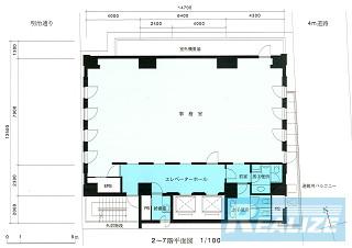 新宿区新宿の賃貸オフィス・貸事務所 エルツ6ビル