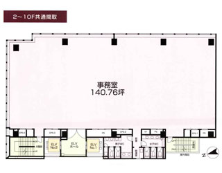 新宿区新宿の賃貸オフィス・貸事務所 FORECAST新宿AVENUE