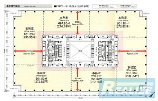江東区東雲の賃貸オフィス・貸事務所 KDX豊洲グランスクエア