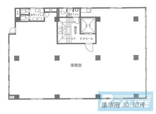 中央区明石町の賃貸オフィス・貸事務所 藤原ビル