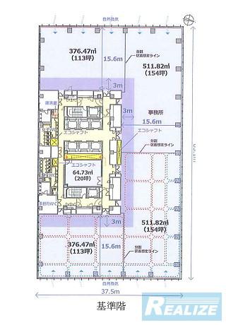品川区上大崎の賃貸オフィス・貸事務所 目黒駅前地区第一種市街地再開発事業 オフィス棟